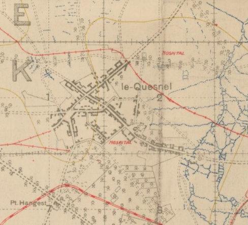 Position des camps pendant la guerre Quesnel-juil-18